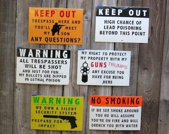 Metal Outdoor Gate and Fence signs - Lot 4