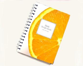 Blank Recipe Book | Juicy Orange Pattern | Personal Recipe Book | Add your own recipes | Home Recipes | Recipe Journal | B0001