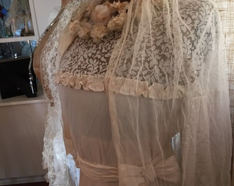 Antique 20's Wedding Dress