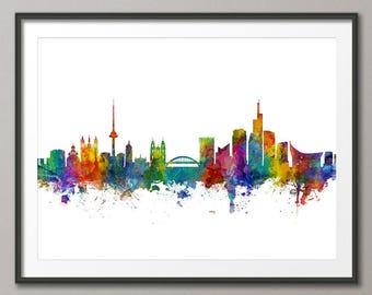 Vilnius Skyline, Vilnius Lithuania Cityscape Art Print (3066)