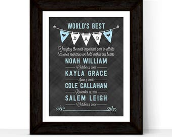 father's day gift from kids, personalized gift for dad, world's best dad, father's day gift ideas from children, birthday gifts for dad