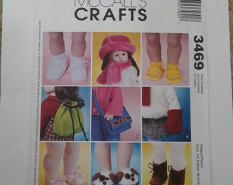 McCALL'S CRAFTS Pattern 3469  Fits American Girls & other 18 inch dolls