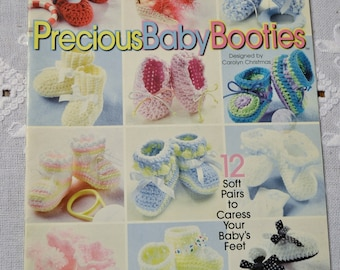 Precious Baby Booties Crochet Instruction Pattern Booklet Panchosporch