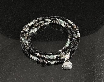 Courage & Strength 5-wrap beaded bracelet (1233)