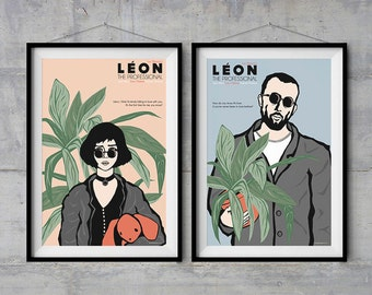 Leon The Professional- Character Posters - Original Illustration