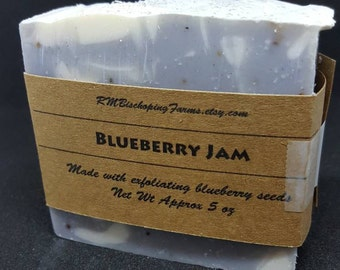 Blueberry Jam Soap, Cold Process Soap, Handmade Soap, Bar Soap, Palm-free, Natural soap, Scrubby Soap, Exfoliating Soap