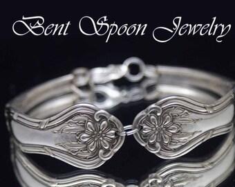 Spoon Bracelet, LILY ~ 1900  Silverware Jewelry - Silver Spoon Bracelet -  Spoon Jewelry - BR5122