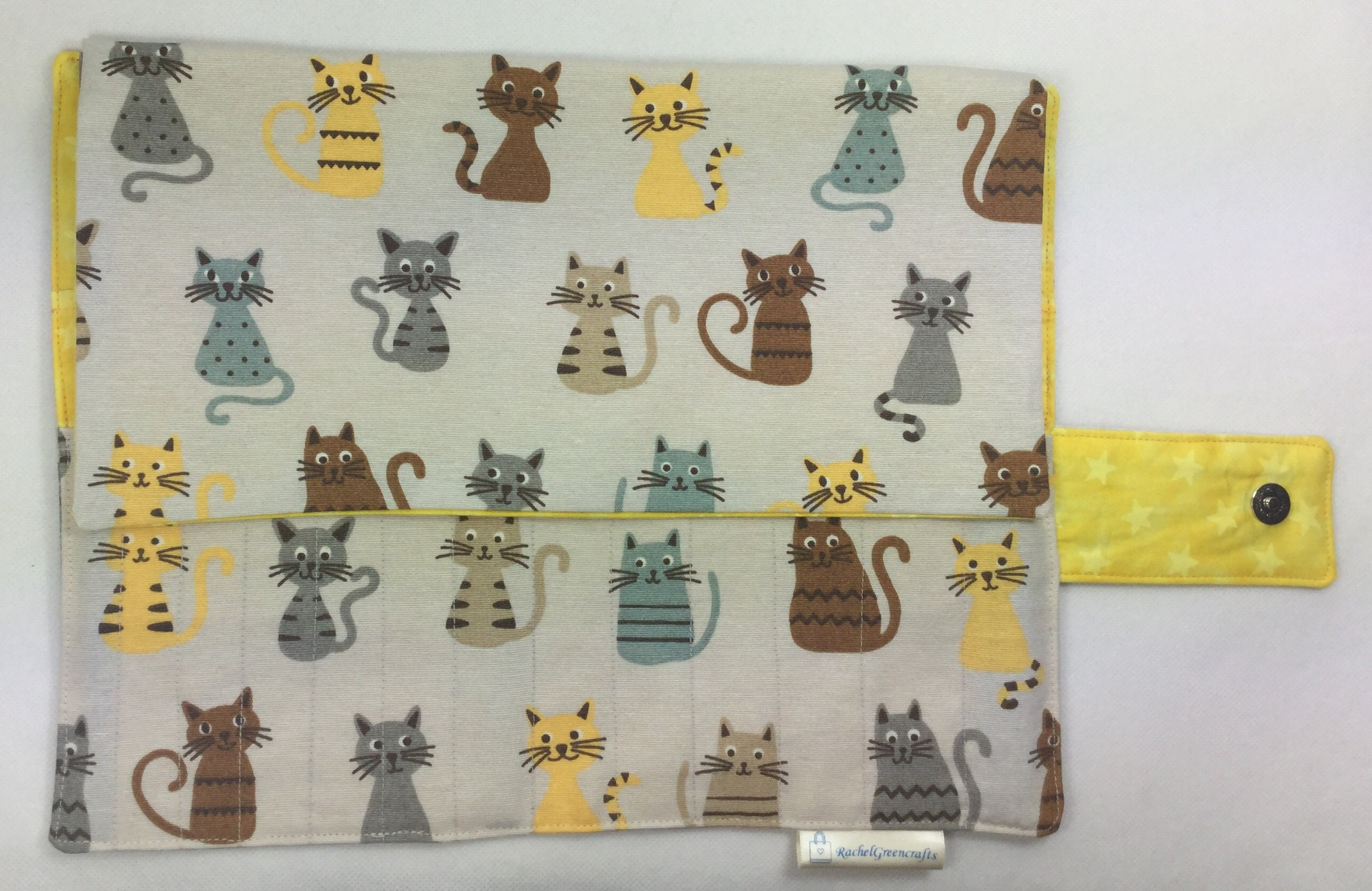 Double pointed case, cats DPN Case, knitting needle case, crochet ...