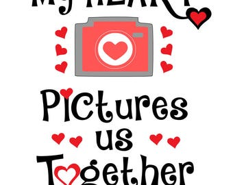 heart pictures us together , valentine day image