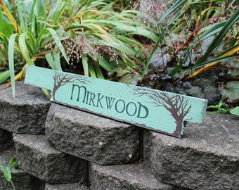 Mirkwood Wooden Directional Sign - Made to Order