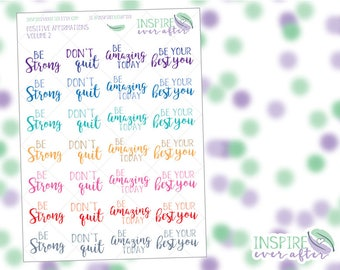 Positive Affirmations Icons Volume 2 ~ Planner Stickers