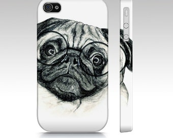 Pug phone case, pug dog case, dog mobile case, tough case for iPhone, pug Samsung Galaxy case, pet device, pug iPhone, pug tough phone case