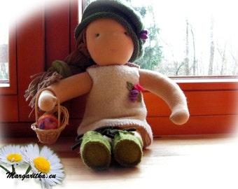 "lovely handmade waldorf doll Sara 15-3/4"", waldorf baby doll, waldorf girl doll, large waldorf doll, steiner doll, cloth doll, handmade doll"