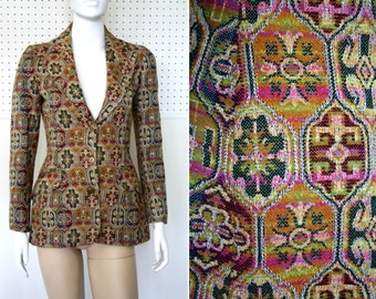 Sport Couture by Francesca Damon Tailored Tapestry Woman's Vintage Blazer Sport Coat Jacket