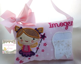 tooth fairy pillow, Personalized tooth fairy pillow, girls tooth fairy, tooth fairy, Hanging tooth fairy pillow