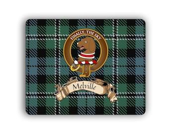 Melville Scottish Clan Tartan Crest Computer Mouse Pad