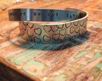 Custom Heart Cuff Bracelet
