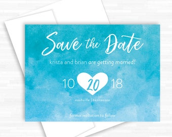 Save the Date Cards, Wedding Invitations, Unique Save the Dates, Watercolor Wedding, Save the Date Designs, Announcements, Custom