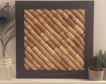 Corkboard made from Used Wine Corks | Graphite Chalk Paint | Ideal Present