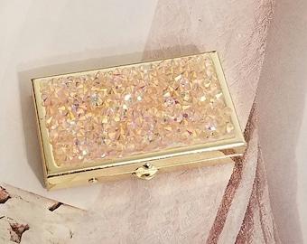 Stash/Pill Box/Pink Bling