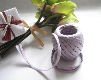 3 Rolls (20 meter) Paper Rope, Purple, Raffia Rope, Paper Ribbon, Straw Rope, Paper String, Packing Rope, Tags, Gift Wrap, Wedding Decor