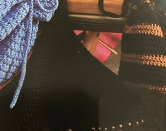 SUMMERSALE Vintage, 1997, Trendsetting Totes, American School of Needleworks, 1251, crochet pattern book