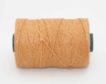 Waxed Irish Linen Thread Butterscotch 7 Ply Waxed Thread