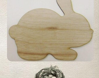 Bunny / Rabbit  - (Small) Wood Cut Out -  Laser Cut