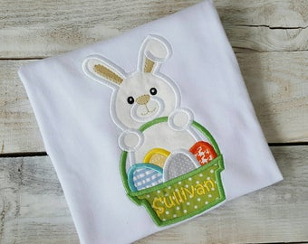 Personalized Easter Shirt, Sample Sale, Easter bunny shirt, Easter basket, egg hunt, boys shirt, sibling shirt, baby shirt, first Easter