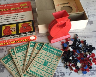 Vintage Bingo-Matic Game by Transogram 1965 Game Pieces no. 3168