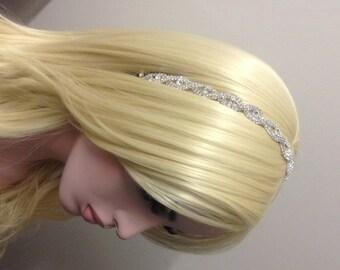 Rhinestone Headband-Bridal Headband-Bridal Accessories-Bridal Tiara-Wedding Tiara-Wedding Headband-Teardrop Silver Rhinestone Headband