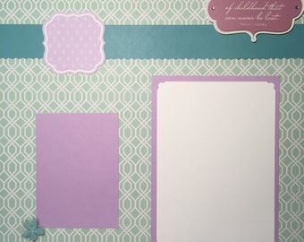 "Sisters 12x12"" Premade Scrapbook Pages"