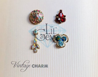 Vintage Magnetic Wine Charms: Glitter Set of 4