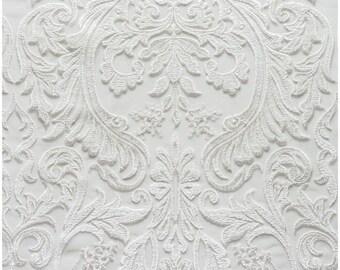 Berta Bridal Embroidery Lace Fabric, Ivory Lace, Wedding Lace, Alencon Lace, Mesh lace fabric, Guipure Lace, bridal dress lace  (L17-091)