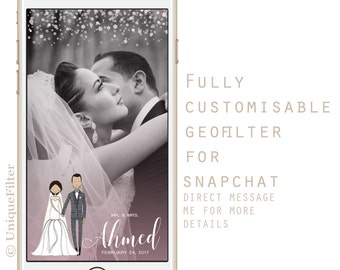 Fully customisable geofilter for snapchat