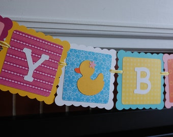 Rubber Duck Birthday Banner, Happy Birthday banner, Rubber Duck Birthday Party, Duck Theme
