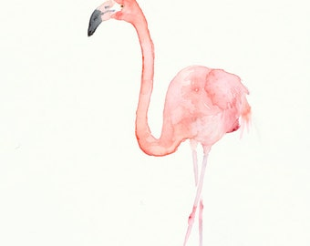 Flamingo Giclee Print from Original Watercolor Painting