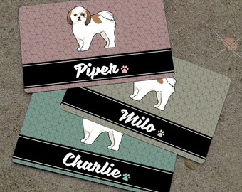 Personalized SHIH TZU Placemat - DOGBREED Themed Placemat - Dog Mat - Pet Food Mat - Rubber Placemat