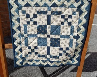 Civil War Wallhanging Tabletopper Blue Monday Handmade Wall Decor