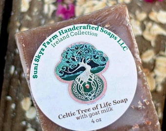Celtic Tree of Life Soap - Tree of Life Soap - Ireland Collection - Goat Milk Soap - Natural Soap - Handmade Soap - Suni Skyz Farm Soap