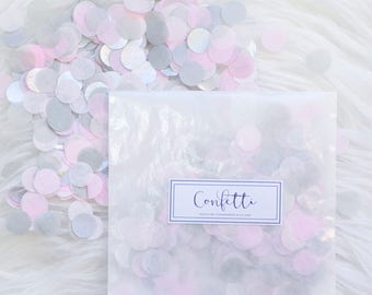 More Colors. Pink And Gray Baby Shower Confetti ...