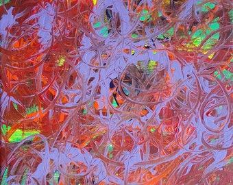 Violet et rouge acrylique peinture abstraite sur toile «série 9 XX «Design d'intérieur, décoration d'intérieur, Art mural, Art moderne, contemporain