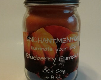 Blueberry Pumpkin Soy Candle