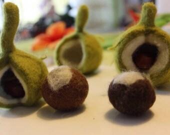 Chestnuts, chestnut felt