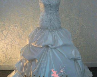 Fairytale Ballgown Wedding Dress Drop Waist with Sweetheart Neckline Custom Made to your Measurements