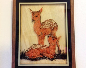 1970s Kitsch Deer Print