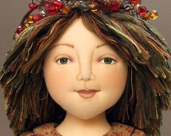 Cloth Doll EPattern - DH118E - Under the Harvest Moon PDF