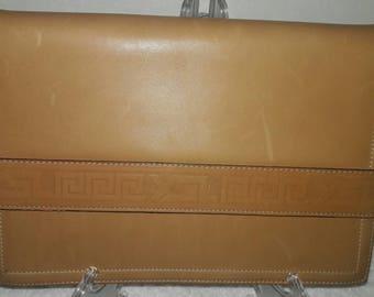 Vintage Yves Saint Laurent Clutch Purse - YSL Greek Design