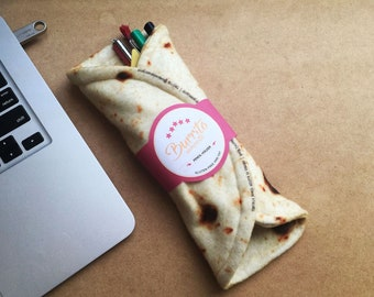 Burrito Pencil Holder - Tortilla Pouch