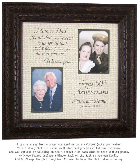 Anniversary Frame Then and Now Picture Frame 50th